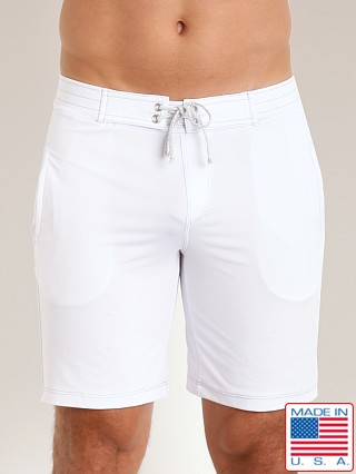 Sauvage Surf Style Workout Short White