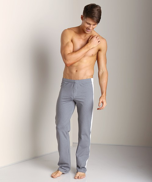 Sauvage Tactel Sidestripe Workout Pants Charcoal