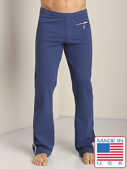 Sauvage Tactel Zipper Pant with Silver Side Stripe Navy