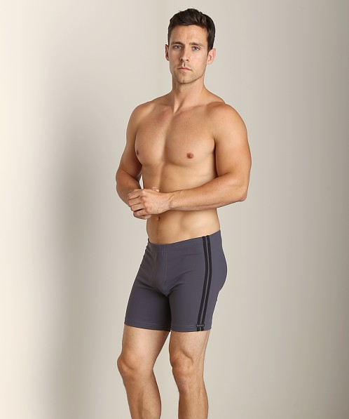 Sauvage Midlength Stripe Football Short Slate