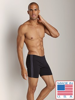 Sauvage Midlength Stripe Football Short Black