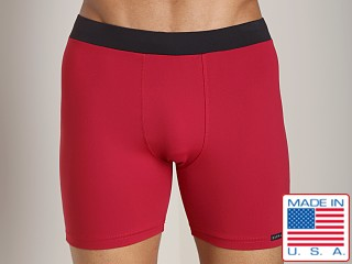 Sauvage Tactel Banded Contour Short Maroon