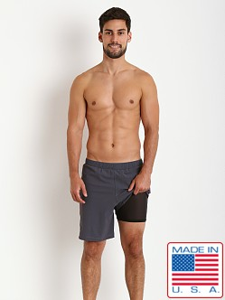 Sauvage Soft Touch Fitted Short Charcoal/Orange
