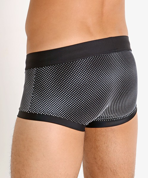 Modus Vivendi Rubber Ombre Swim Trunk Black