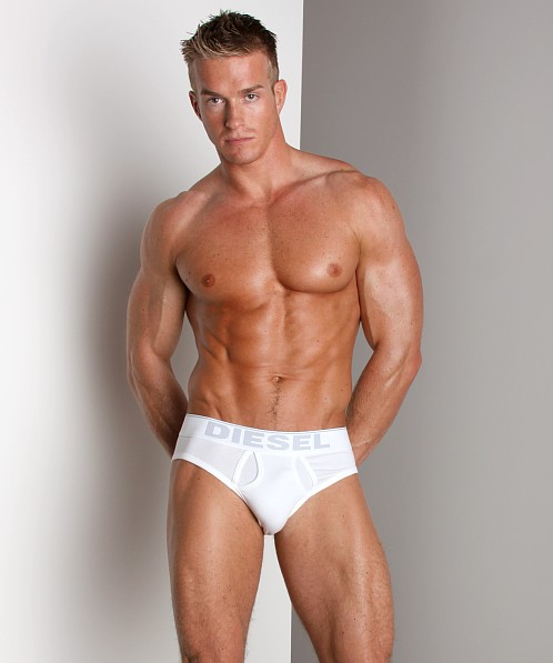 Diesel Cotton Stretch Lukek Brief White