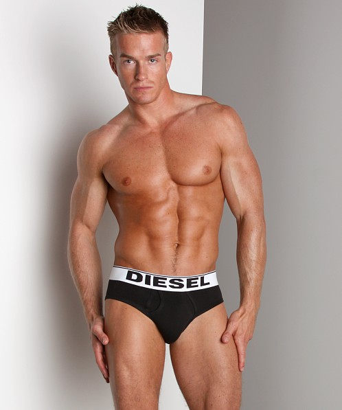 Diesel Cotton Stretch Lukek Brief Black