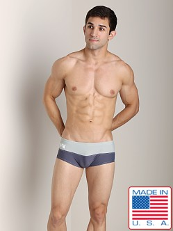 N2N Falcon Square Cut Swimmer Grey