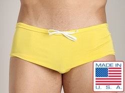 N2N Catalina Bold Aussie Style Swim Trunk Yellow