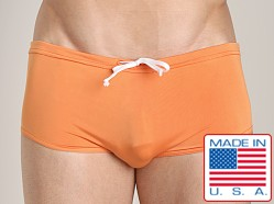 N2N Catalina Bold Aussie Style Swim Trunk Orange