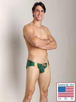 N2N University Swim Brief Green