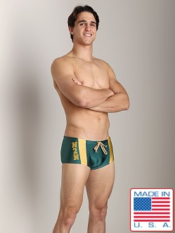 N2N University Swim Trunk Forest Green
