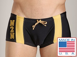 N2N University Swim Trunk Black