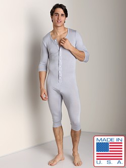 N2N Lounge Men's Onesie Iced Silver