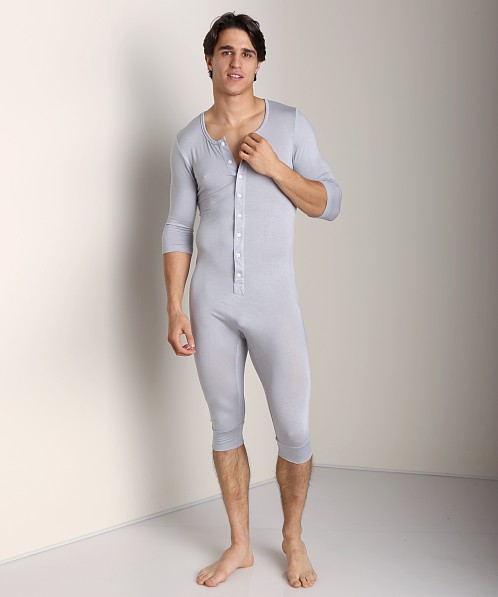 a9f6cd1737771 N2N Lounge Men's Onesie Iced Silver L14 at International Jock