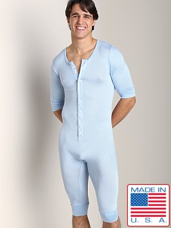 N2N Lounge Men's Onesie Iced Blue
