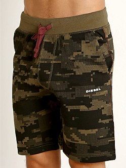 Diesel Pan Lounge Shorts Olive Camo