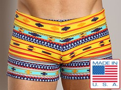 LASC Square Cut Swim Trunk Southwestern Print