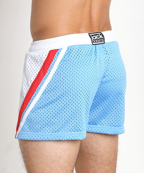 Jack Adams Relay Air Mesh Gym Short Wht/Red/Sky