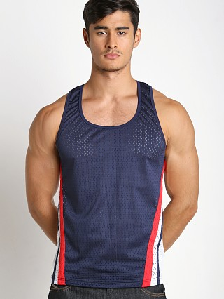Jack Adams Relay Air Mesh Tank Navy