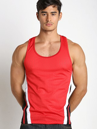 Jack Adams Relay Air Mesh Tank Red