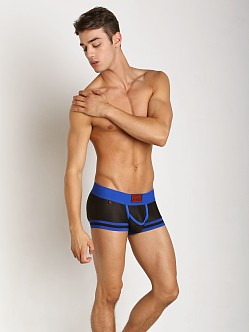 Jack Adams Track Mesh Boxer Brief Black/Blue
