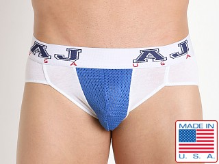 American Jock Compete Bikini Brief White/Royal