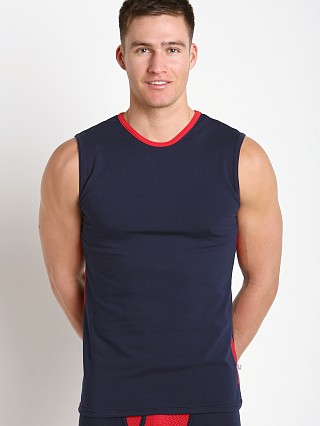 Complete the look: American Jock Compete Muscle Tee Navy/Red