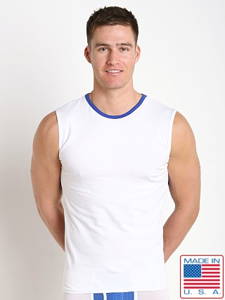 American Jock Compete Muscle Tee White/Royal
