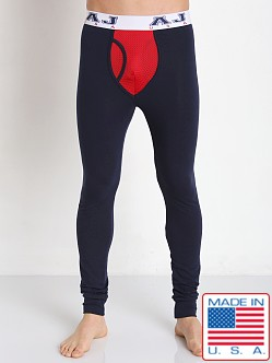 American Jock Compete Long John Navy/Red