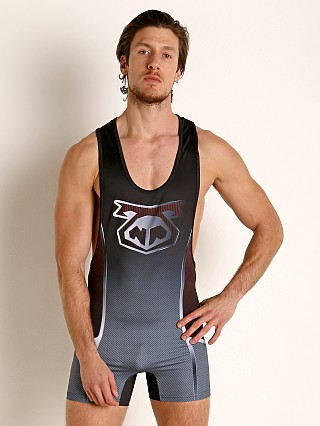 Model in black Nasty Pig Carbon Singlet