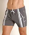 Nasty Pig Takeoff Rugby Short Grey, view 3