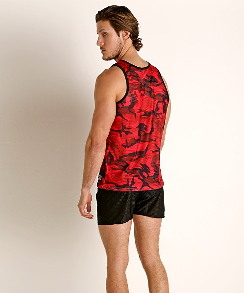 Cell Block 13 Foxhole Camo Mesh Tank Top Red