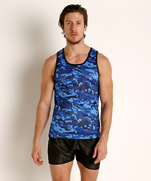 Cell Block 13 Foxhole Camo Mesh Tank Top Blue