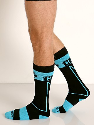 Cell Block 13 Kennel Club Alpha Knee Socks Turquoise