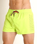 Diesel Sandy Short Swim Shorts Neon Green, view 3