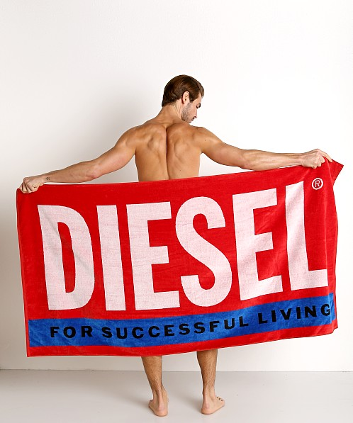 Diesel Helleri Beach Towel Formula Red