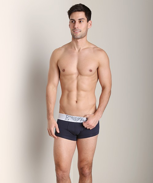 Emporio Armani Basic Stretch Cotton Trunk Marine