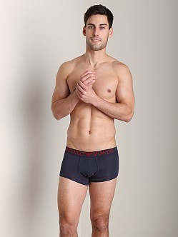 Emporio Armani Coloured Stretch Cotton Trunk Marine