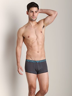 Emporio Armani Coloured Stretch Cotton Trunk Charcoal