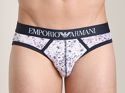 Emporio Armani Printed Fantasy Stretch Cotton Brief Flower