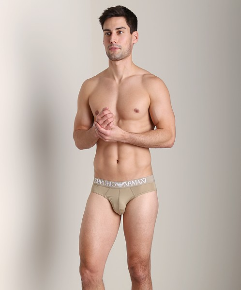 Emporio Armani Basic Microfiber Brief Bronze