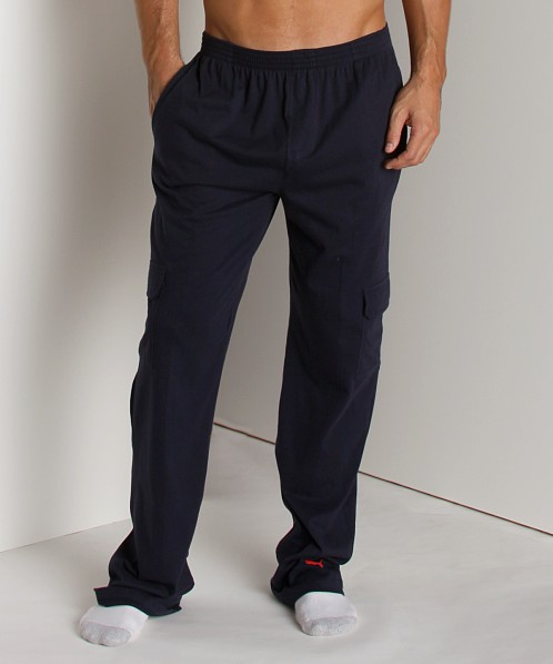 Puma Pocketed Lounge Pants Navy