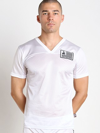 Complete the look: Cell Block 13 Blindside V-Neck Jersey White