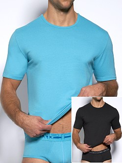 C-IN2 Baseflex Crew Neck Shirt 2-Pack Electric Ice & Phantom