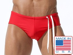 Rufskin Swiecki Side Cord Swim Brief Red