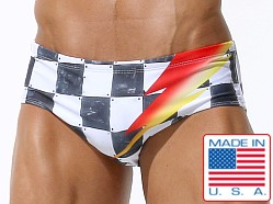 Rufskin Eclair Classic Cut Swim Brief Checker Print