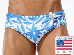 Rufskin Mex Side Cord Swim Brief Floral Print