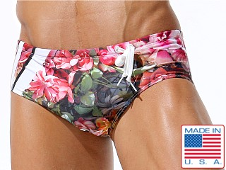 Rufskin Blum Side Cord Swim Brief Floral Print