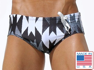 Rufskin Spike Side Cord Swim Brief Geometric Print