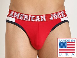 American Jock Aktivo Hi-Cut Brief Red/Navy